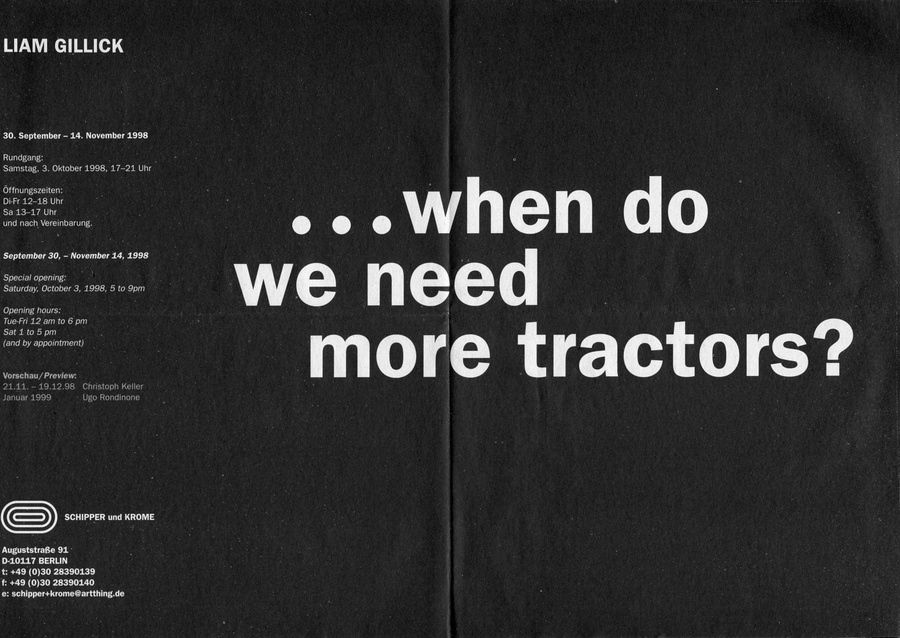 ...when do we need more tractors?